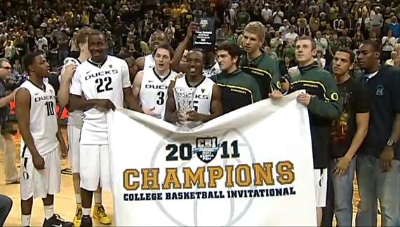 Oregon Ducks Basketball 2011 CBI Champions