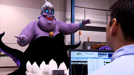 Animatronic Ursula, The Sea Witch.