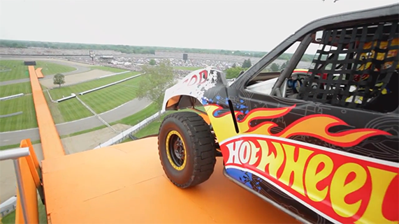 Hot Wheels Car Gets Ready To Jump