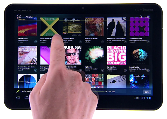 Selecting Music From Your Android Powered Tablet