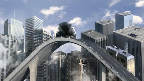 Lexus Hybrid In An MC Escher World