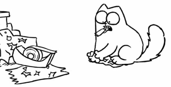 Simon's Cat Animation: Sticky Tape